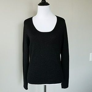 Ann Taylor black sparkle sweater